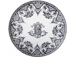 1841CF0103 Grand plat Monogrammes
