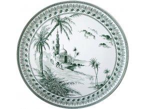 1841CF0303 Grand plat Vues d'Orient