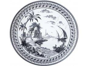 1841CF0403 Grand plat Vues d'Orient 2