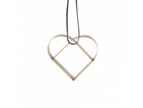 Figura Srdce malé mosazné, Stelton