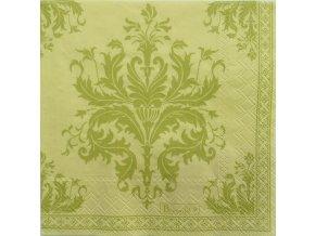 Topkapi zelený papírový ubrousek 33x33 cm, Beauvillé