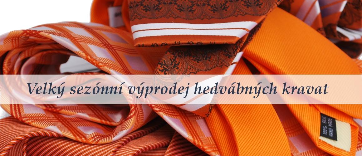 Hedvábné oranžové kravaty