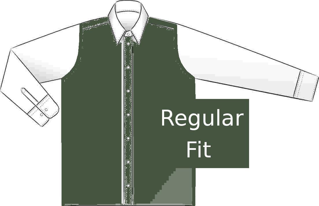 Regular fit - klasický střih