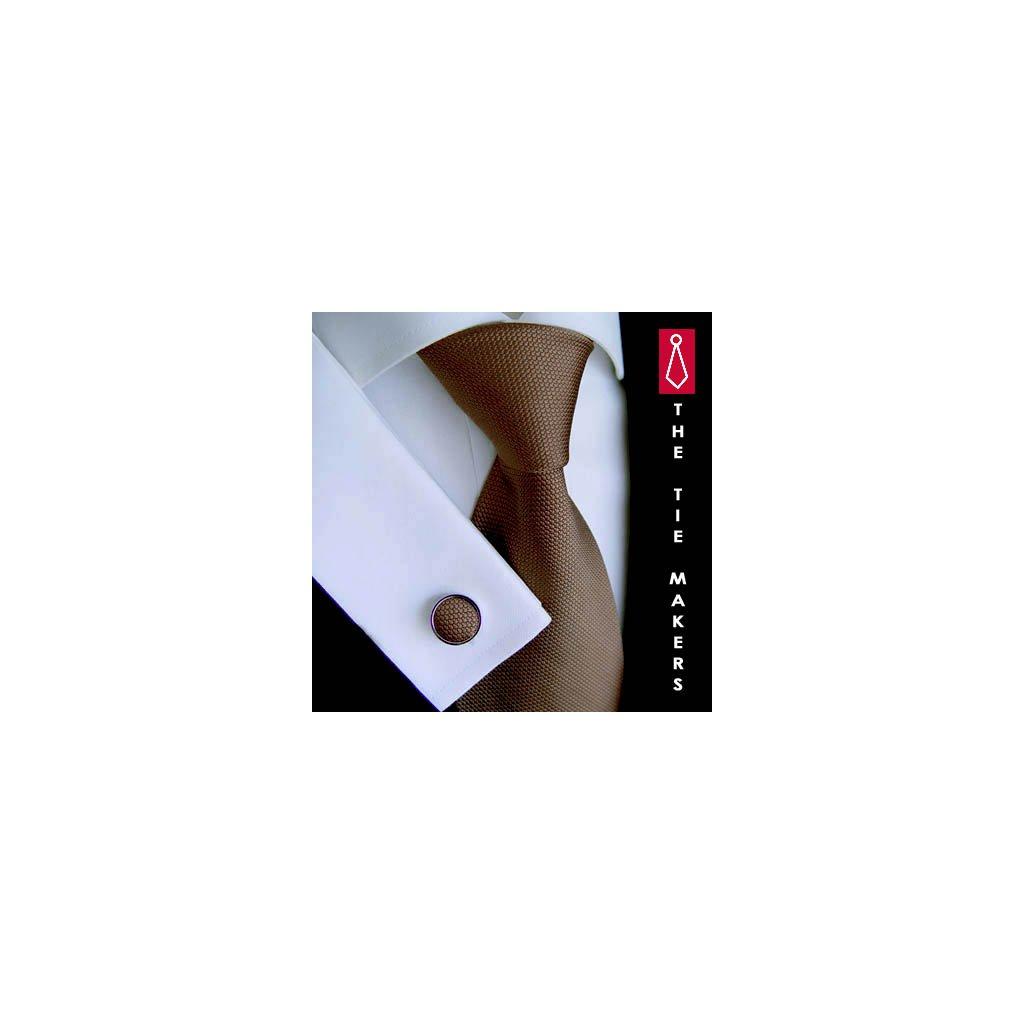 Hnědá hedvábná kravata Tom Harrison 900-07