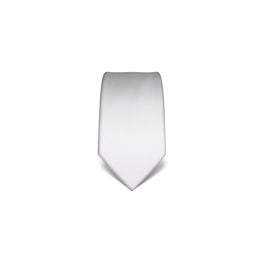 Bílá kravata Vincenzo Boretti 21921 21973 - jednobarevná