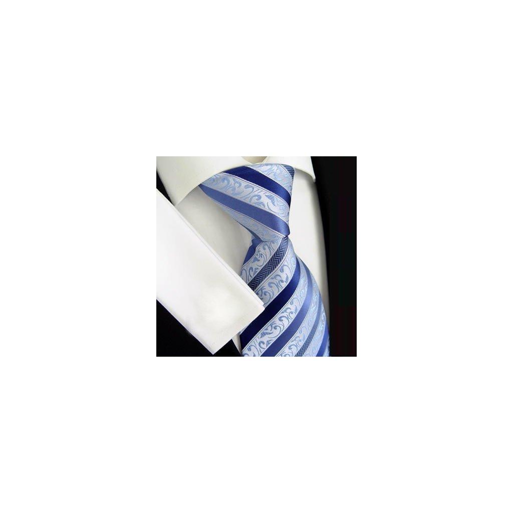 Beytnur 177-1 luxusní hedvábná kravata modrá