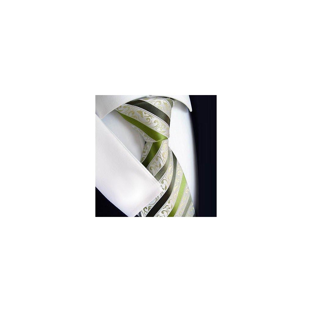 Beytnur 177-3 luxusní hedvábná kravata zelená