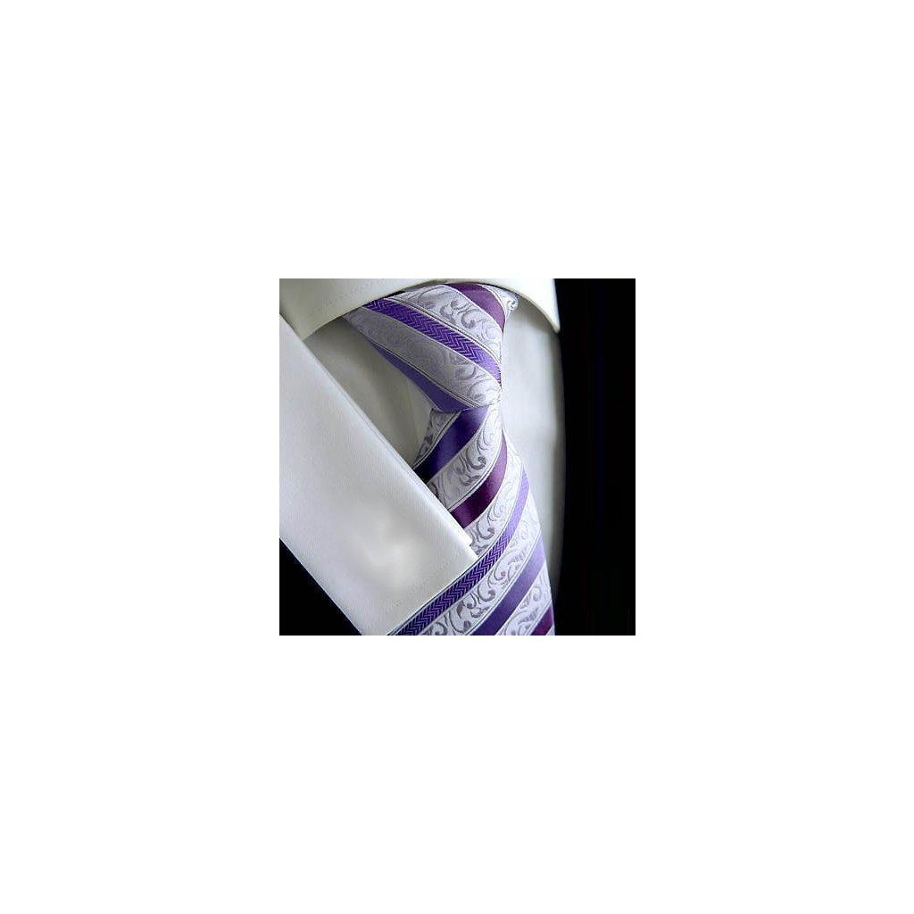Beytnur 177-6 luxusní hedvábná kravata fialová