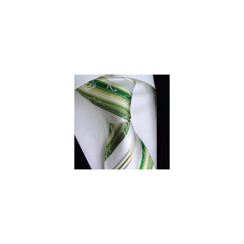 Svatební hedvábná kravata Beytnur 200-2 zelená