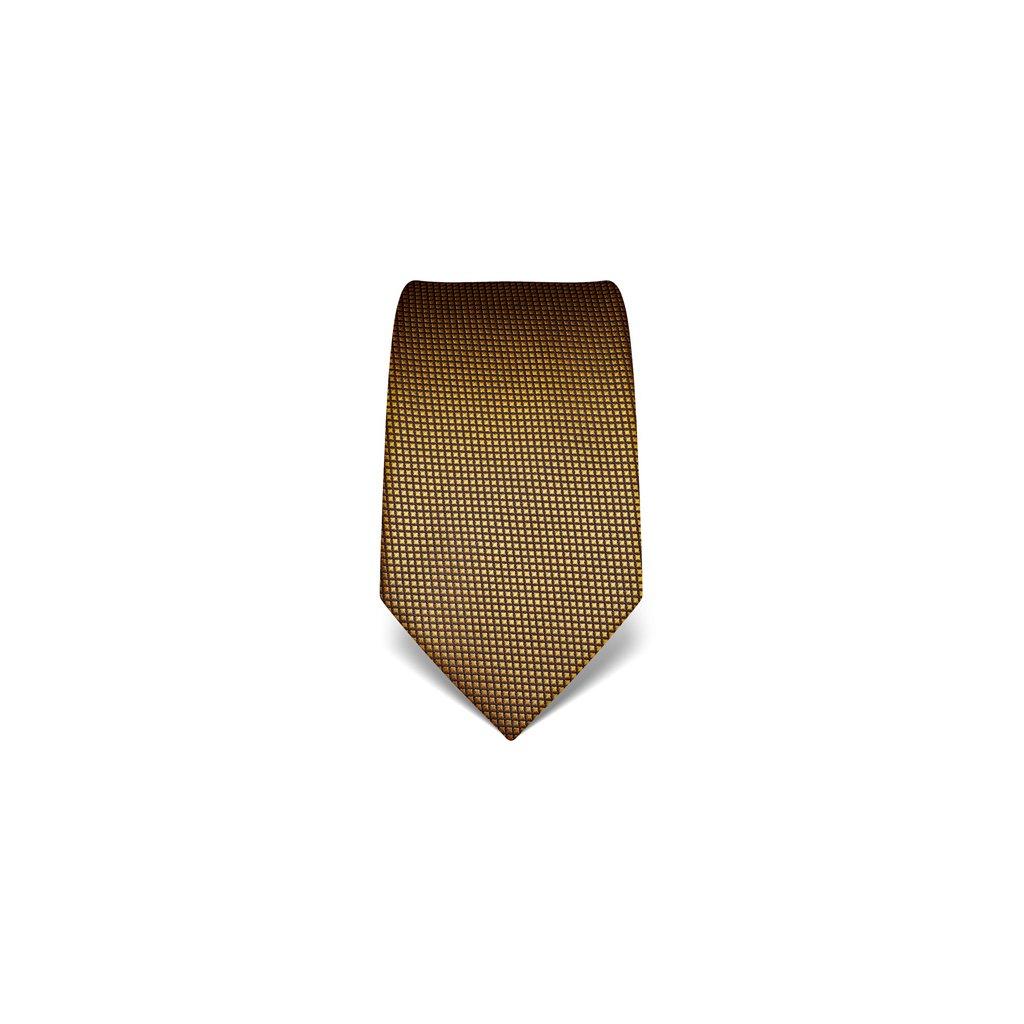 Žlutá kravata Vincenzo Boretti 21934 - struktura čtvereček