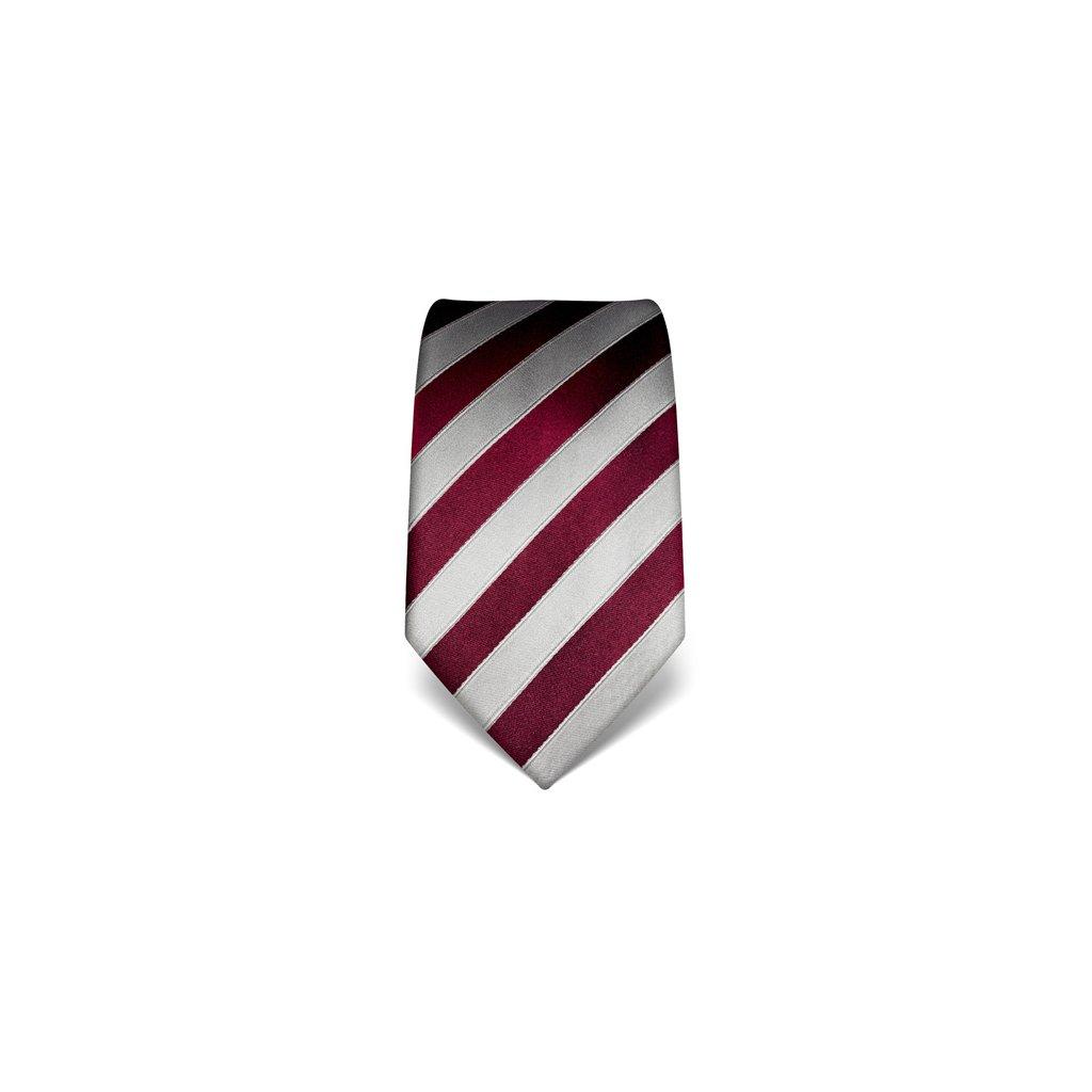 Pruhovaná kravata Vincenzo Boretti 21927 - burgunda