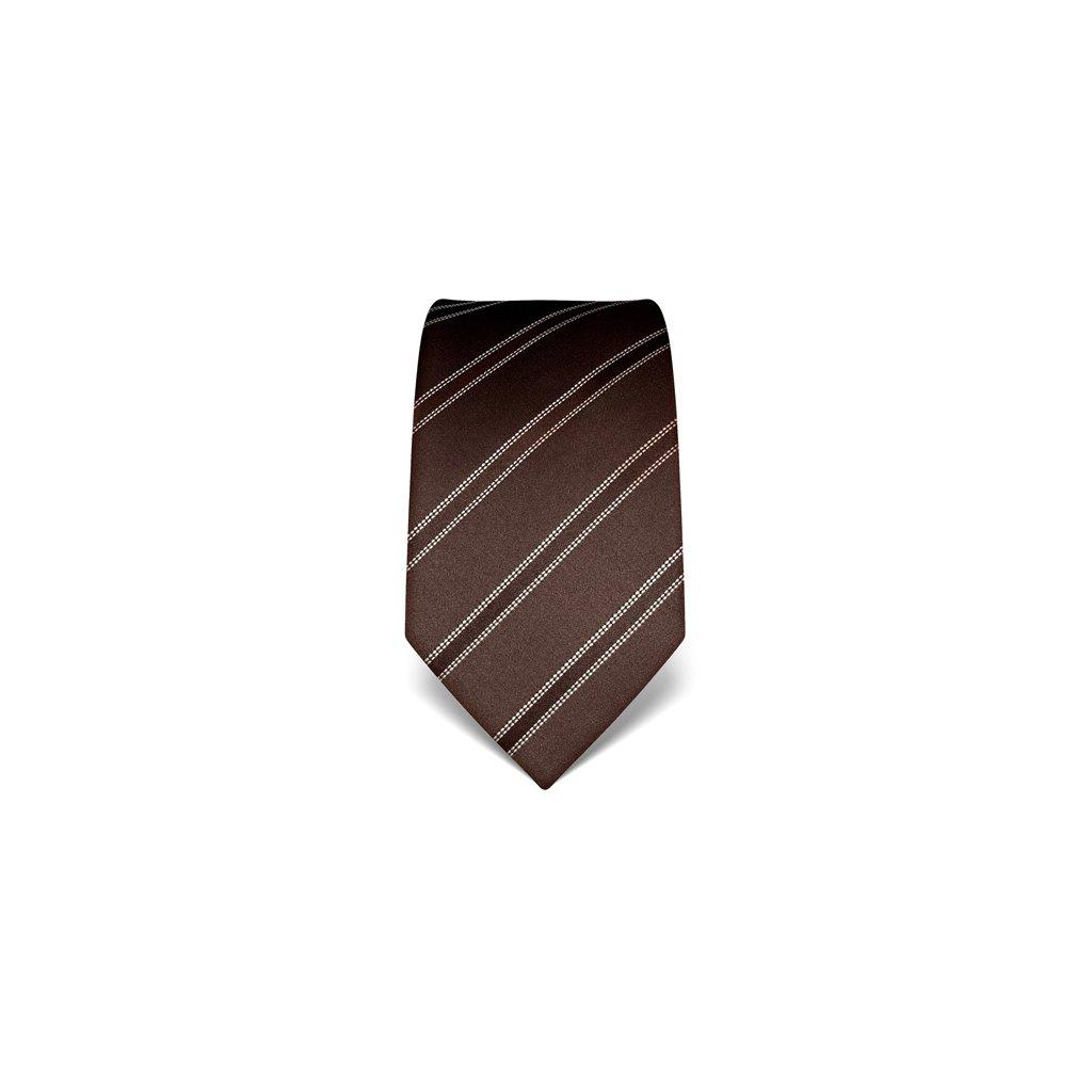 Elegantní kravata Vincenzo Boretti 21947 - tmavě hnědá