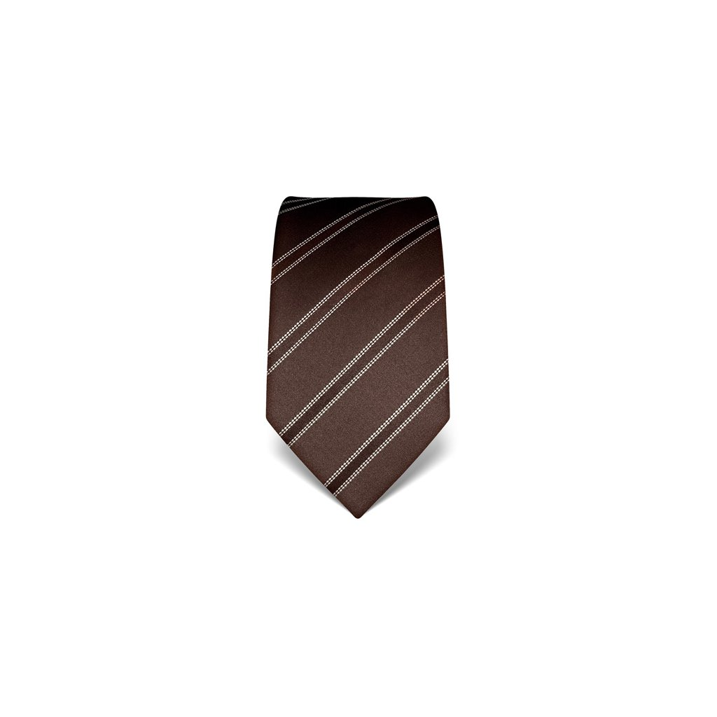 Elegantní kravata Vincenzo Boretti 21999 - tmavě hnědá
