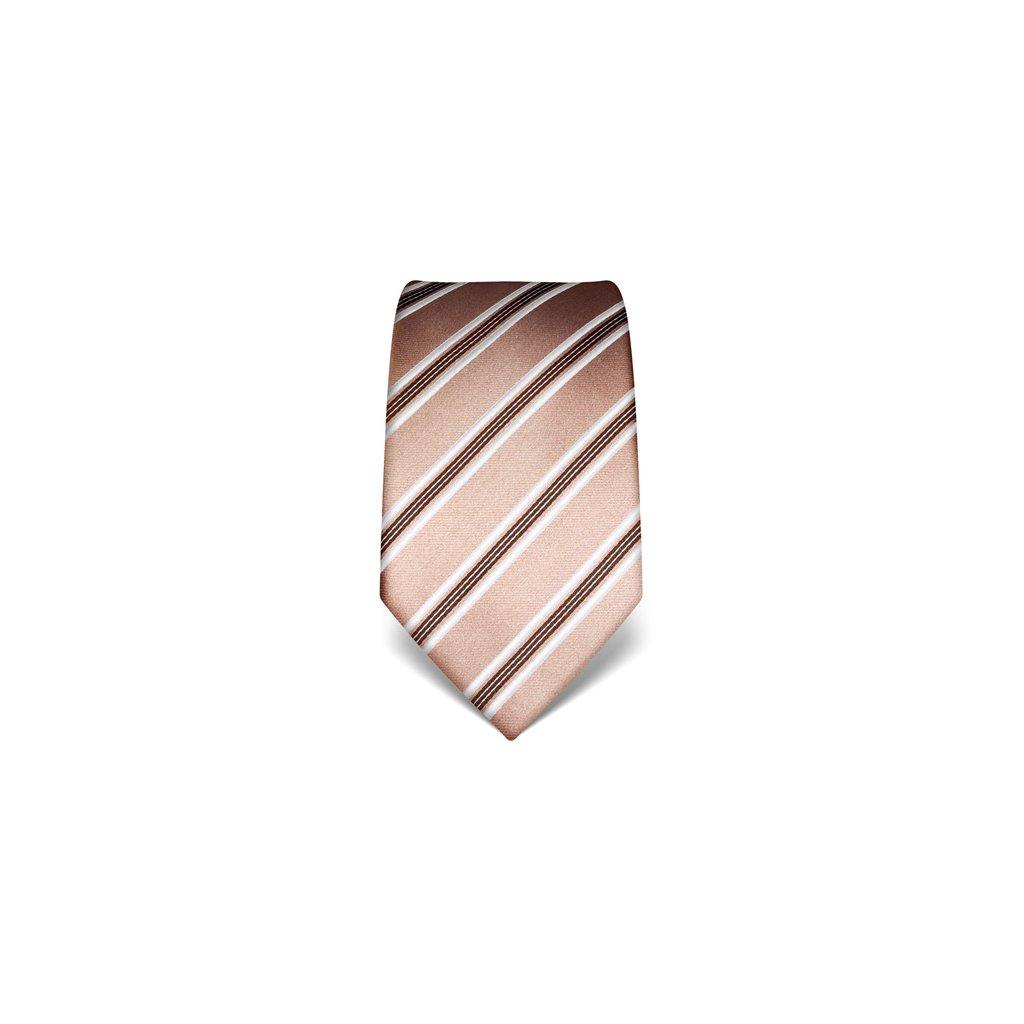 Elegantní kravata Vincenzo Boretti 21954 - sépiová s pruhem