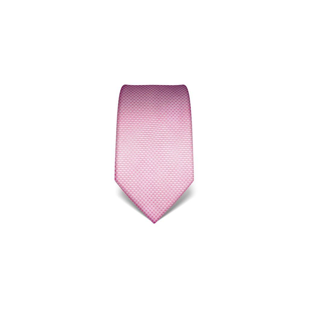 Růžová kravata Vincenzo Boretti 21937 - kohoutí stopa