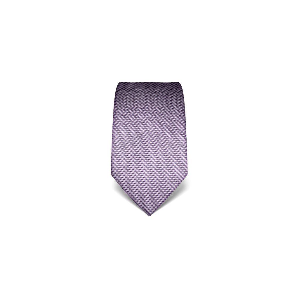Světle fialová kravata Vincenzo Boretti 21989 - kohoutí stopa