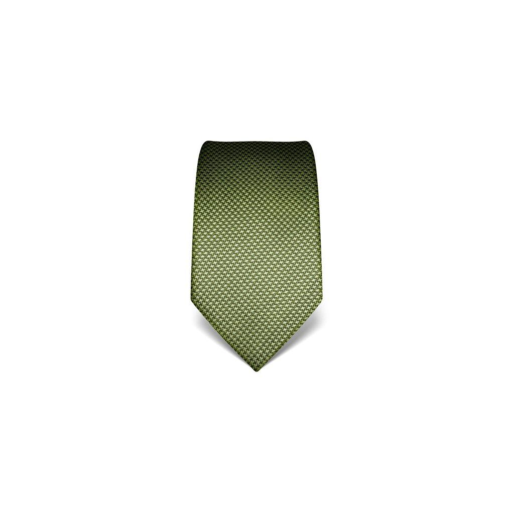 Tmavě zelená kravata Vincenzo Boretti 21989 - kohoutí stopa