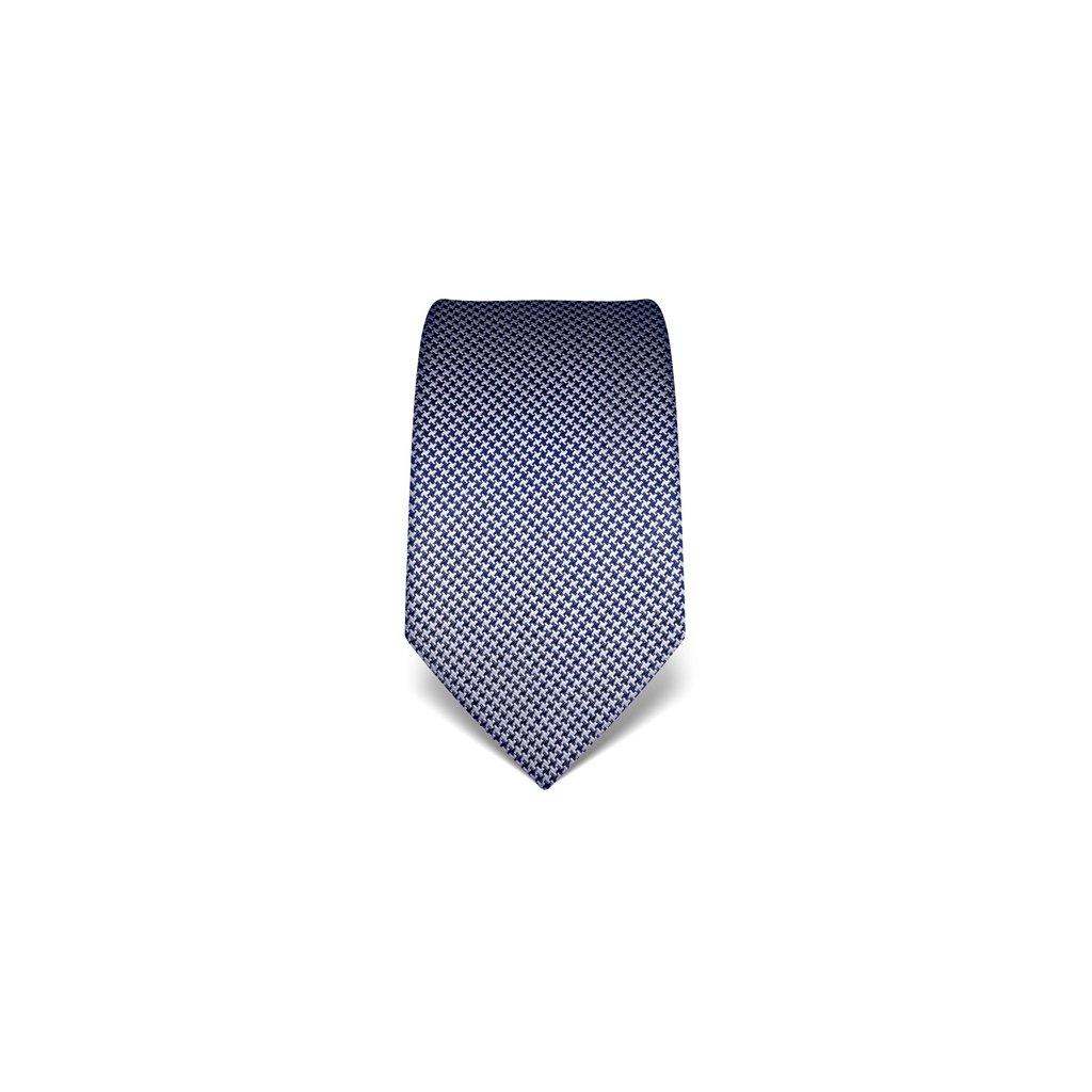 Tmavě modrá kravata Vincenzo Boretti 21989 - kohoutí stopa
