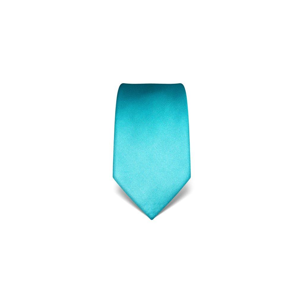 Vincenzo Boretti 21978 tyrkysová luxusní kravata