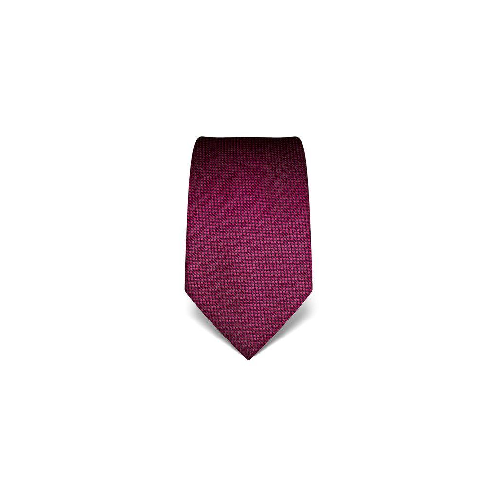 Fuchsiová kravata Vincenzo Boretti 21934 - struktura čtvereček