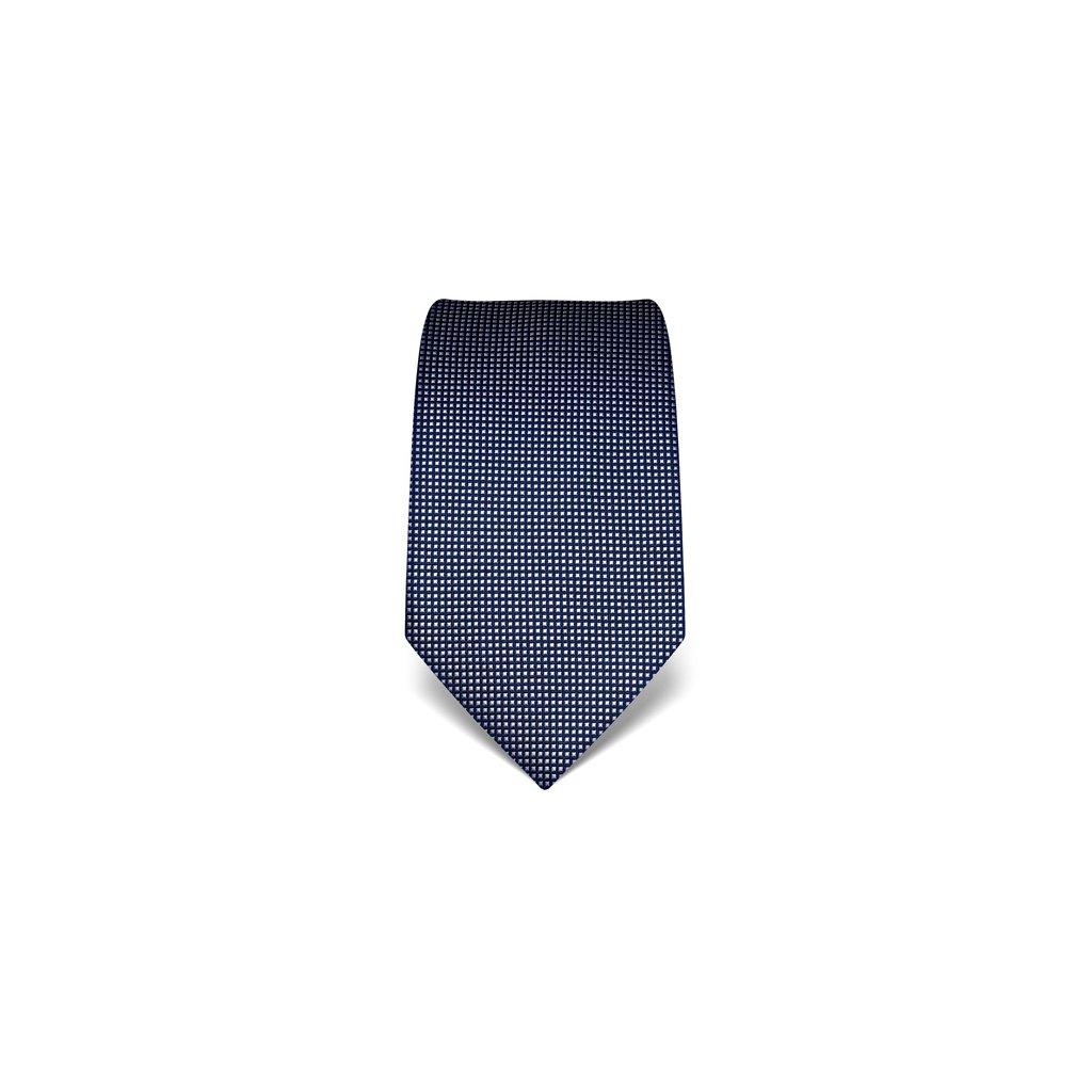 Kostičkovaná kravata Vincenzo Boretti 21933 - tmavě modrá