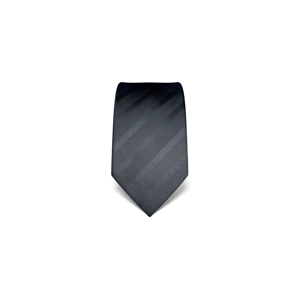 Antracitová kravata Vincenzo Boretti 21981
