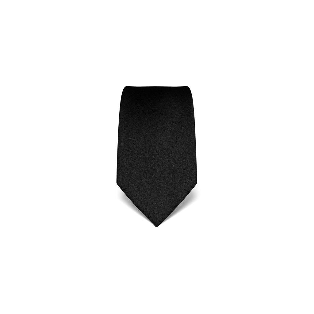 Vincenzo Boretti luxusní černá kravata 21960
