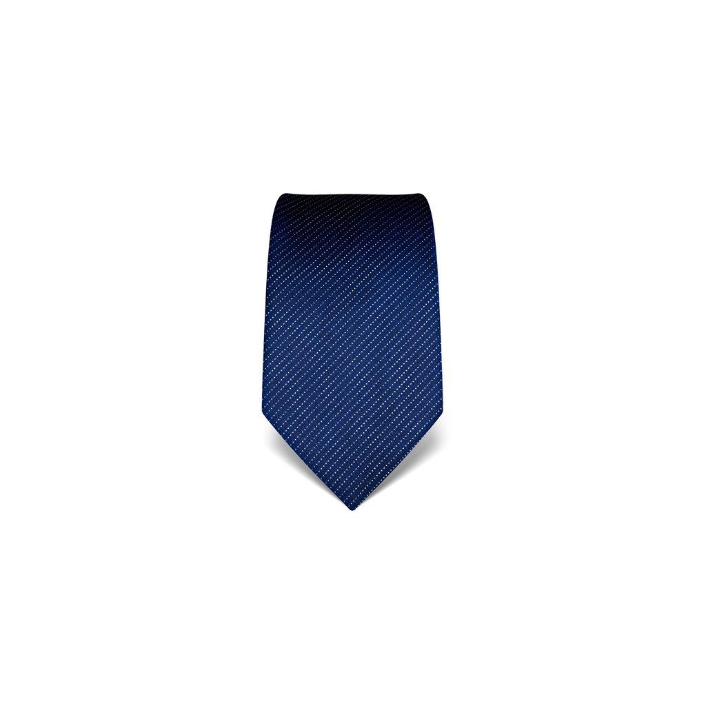 Vincenzo Boretti luxusní modrá tečkovaná kravata 21958