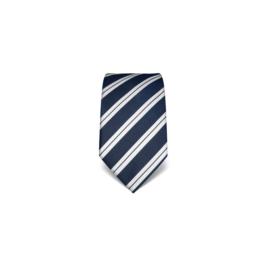 Elegantní kravata Vincenzo Boretti 21916 - modrá s pruhem