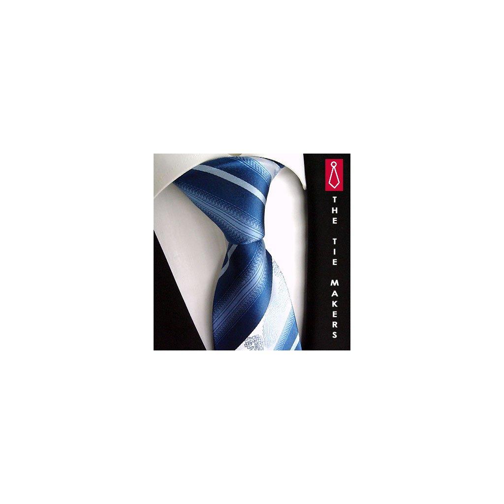 Modrá kravata se vzorem Beytnur 206-2