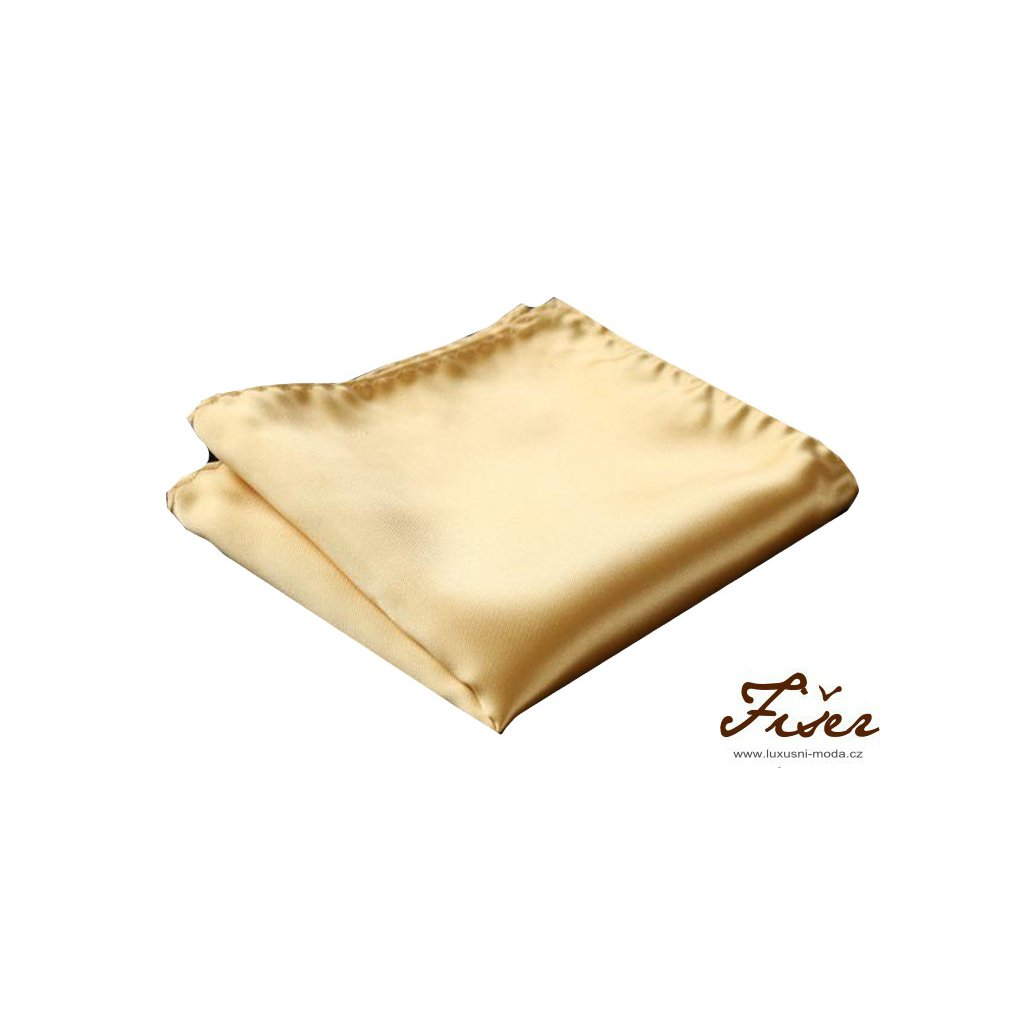 Hedvábný kapesníček zlatý