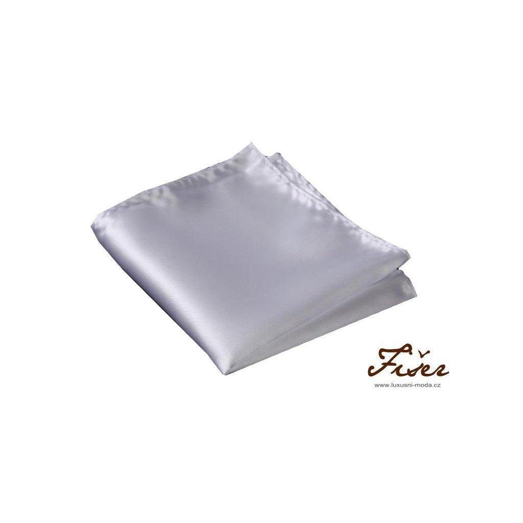 Hedvábný kapesníček bílý