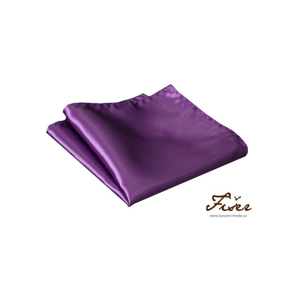 Hedvábný kapesníček fialový
