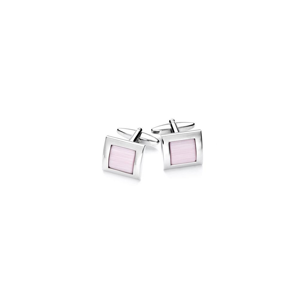Luxusní manžetové knoflíčky Vincenzo Boretti -  růžové
