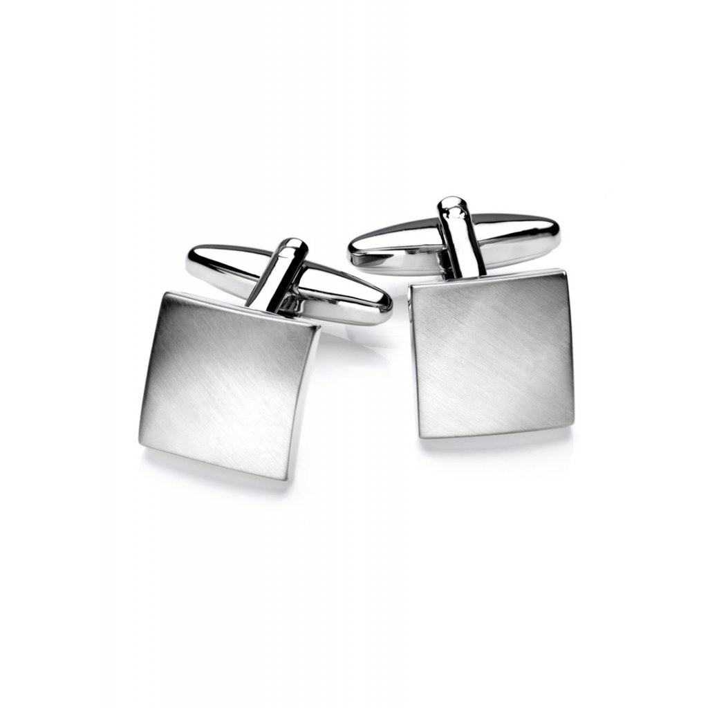 Luxusní manžetové knoflíčky Vincenzo Boretti čtvercové - broušené