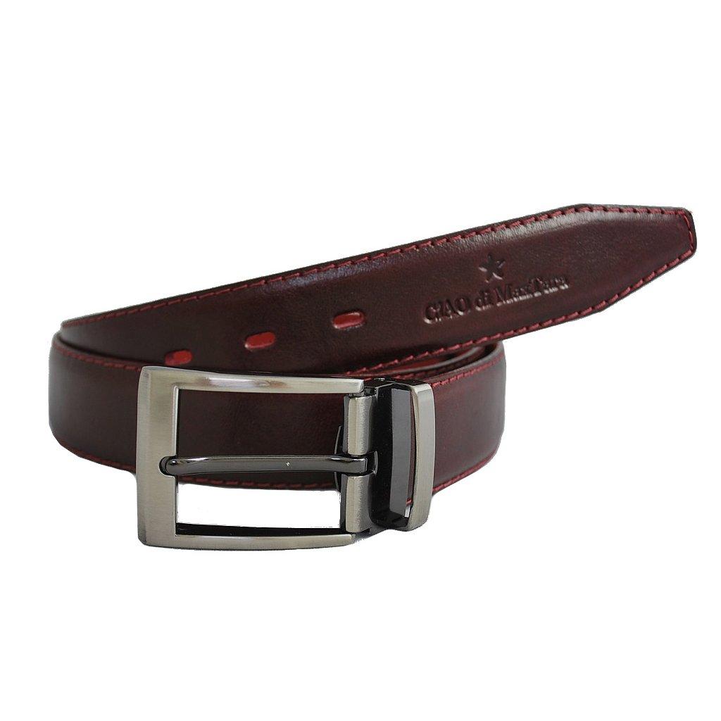 Luxusní pánský pásek CiAO di MaxMara - červený