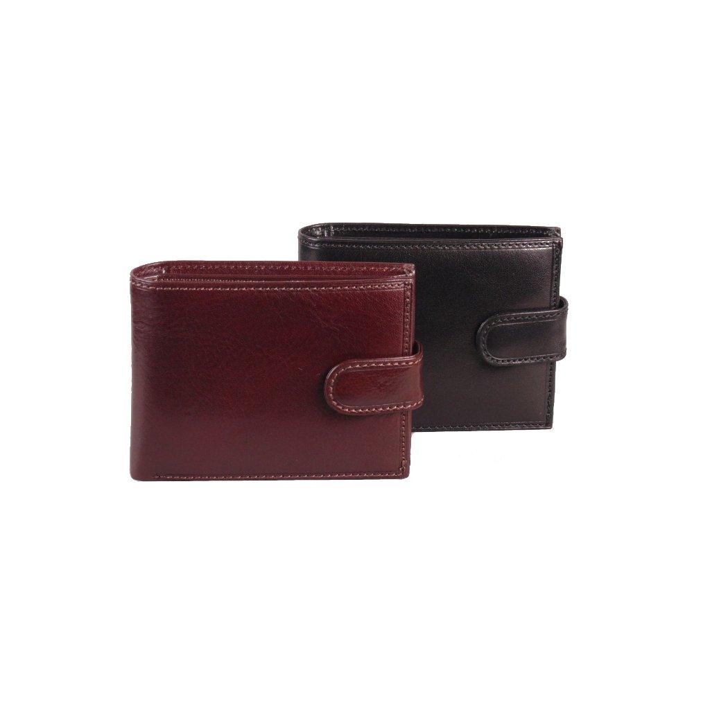 Luxusní pánská kožená peněženka hnědá
