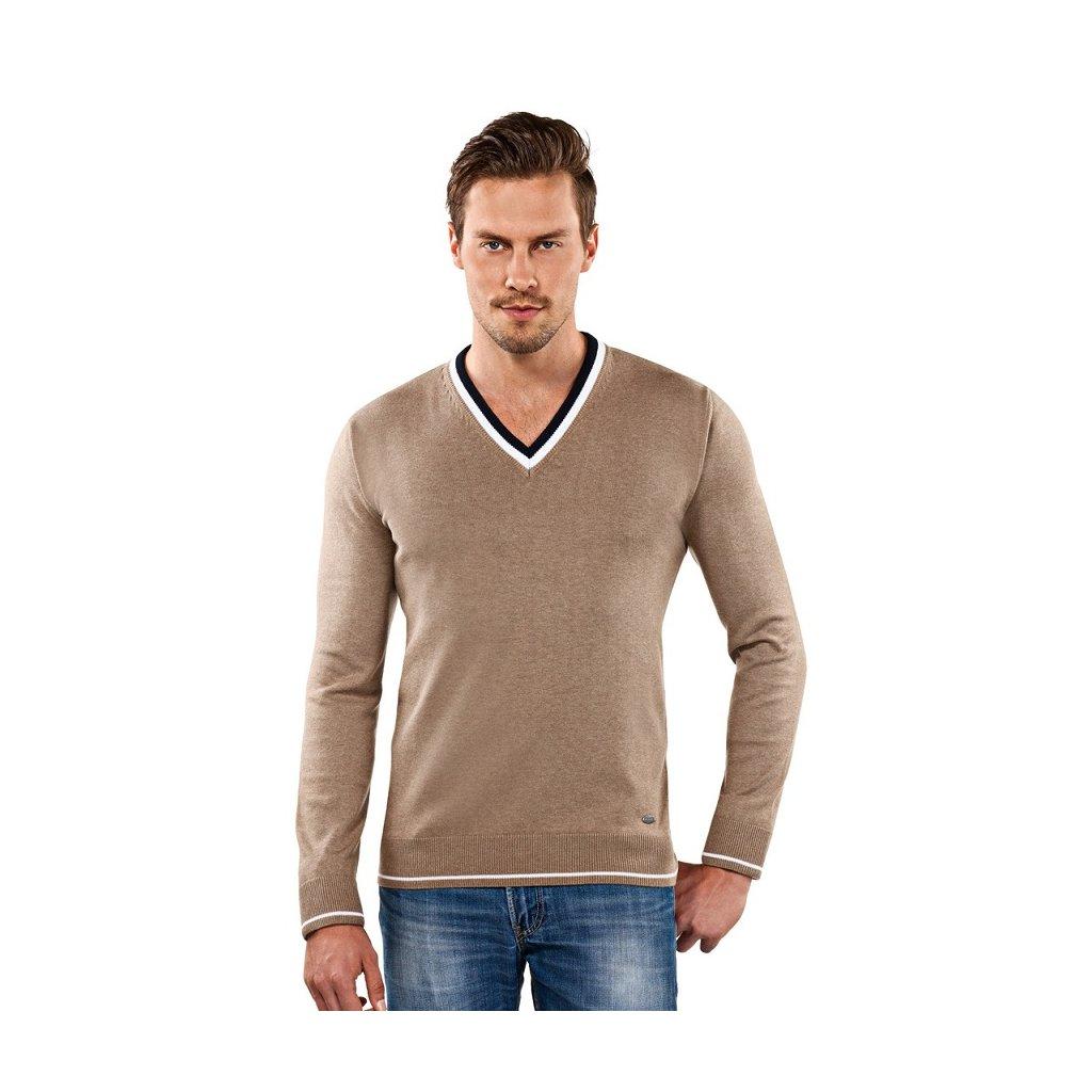 Pánský svetr Vincenzo Boretti, sépiová