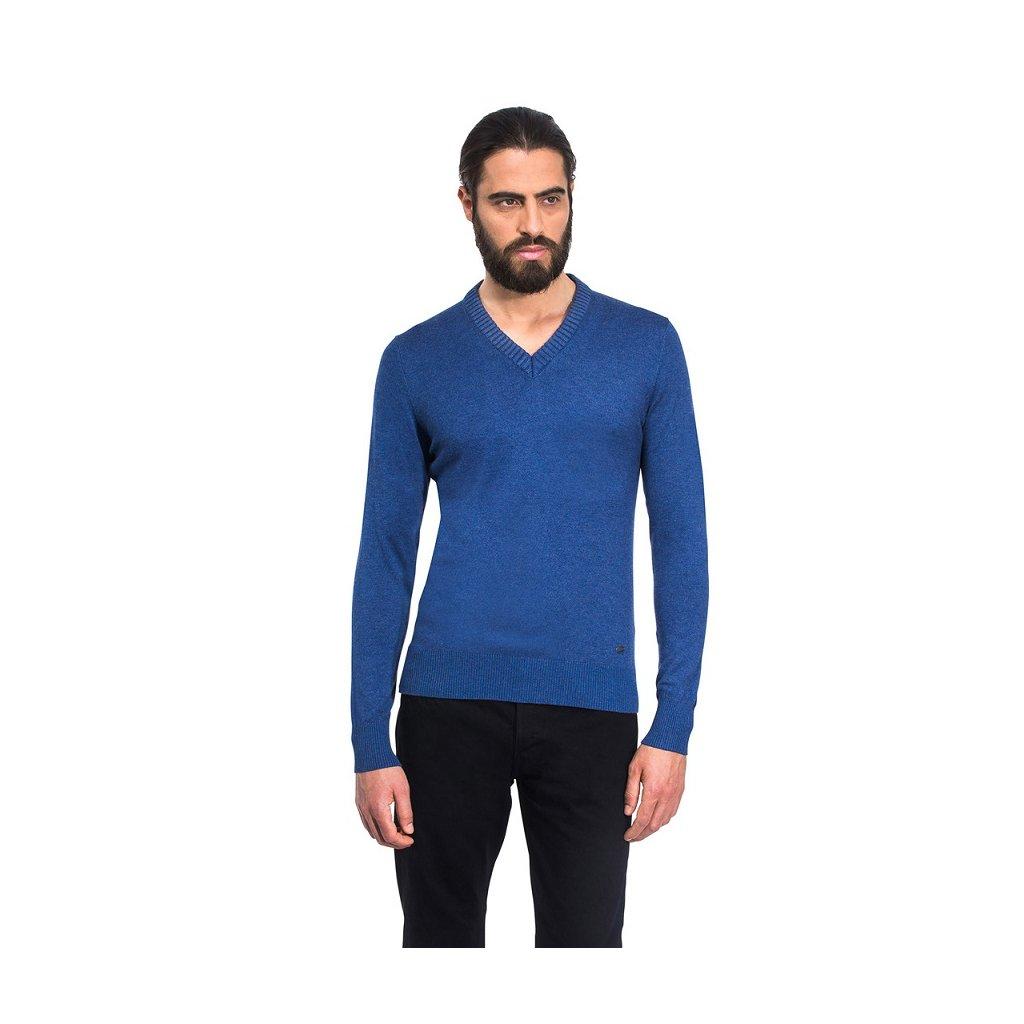 Pánský svetr Vincenzo Boretti - šedomodrá