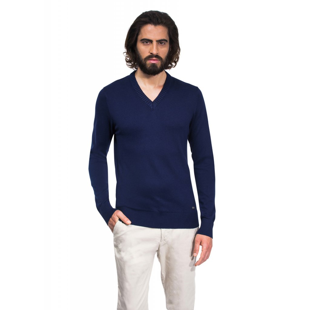 Pánský svetr Vincenzo Boretti - tmavě modrý