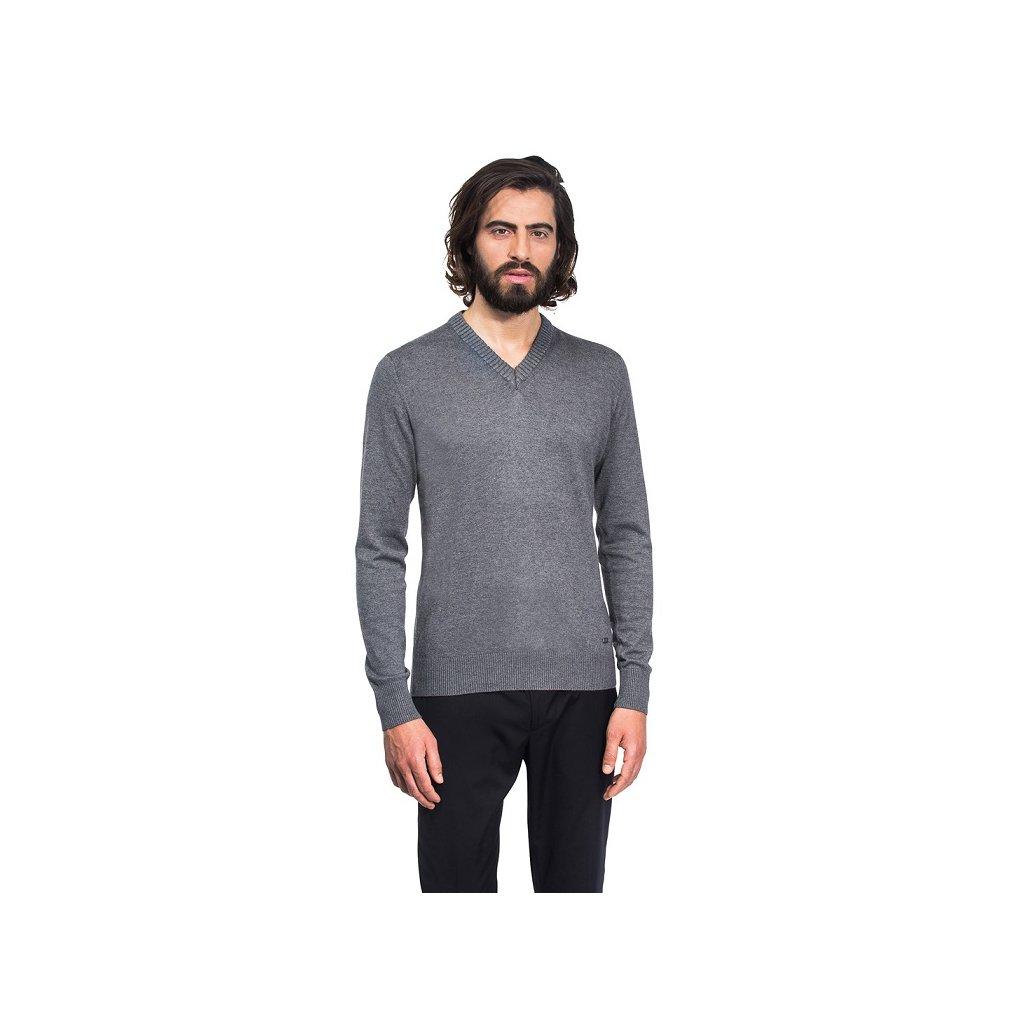 Pánský svetr Vincenzo Boretti - tmavě šedý