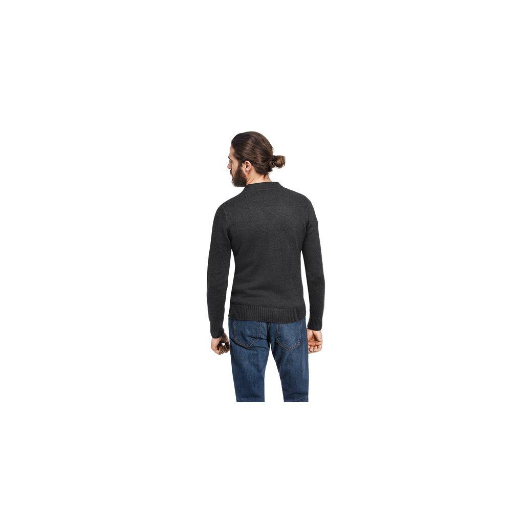 Pánský svetr na knoflíky Vincenzo Boretti - antracit - Luxusní móda 4eac274bdf
