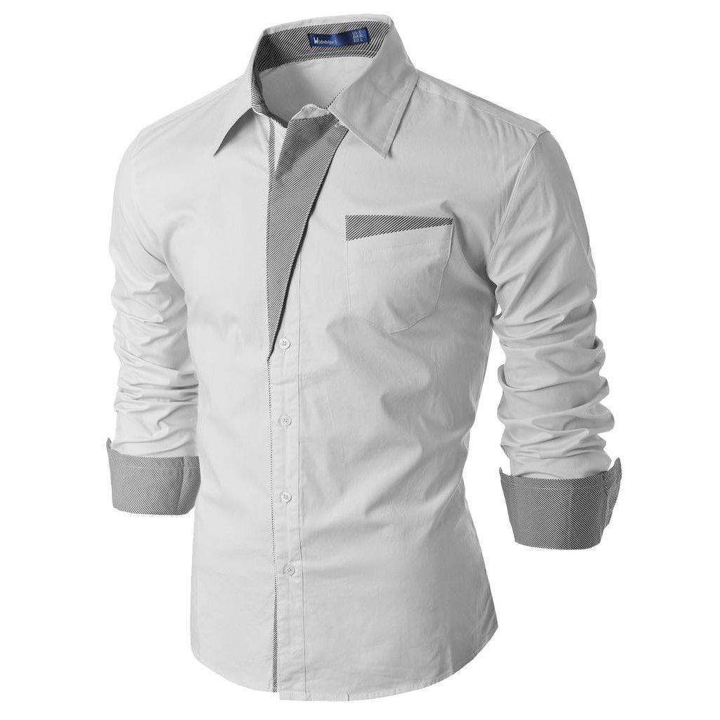 Pánská košile s nevšedním střihem DS41-XL
