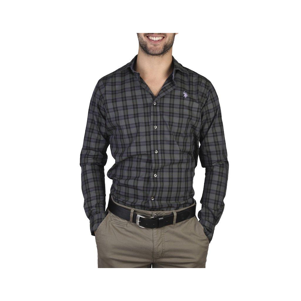 U.S. Polo pánská košile tmavá kostička-do 1-3 dní-37/38(S)