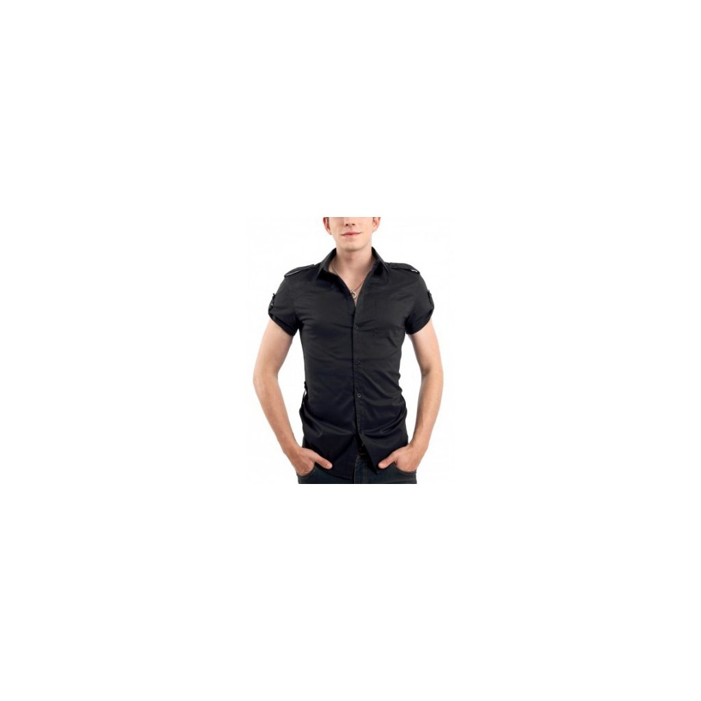 Pánská letní košile Doublju - černá