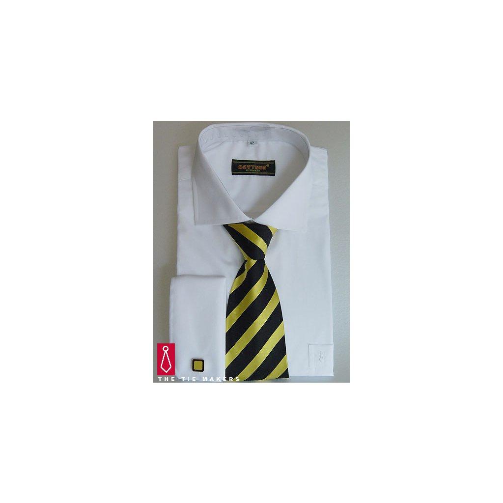 Bílá svatební košile Beytnur - na manžetové knoflíčky - Luxusní móda 26cbed581a