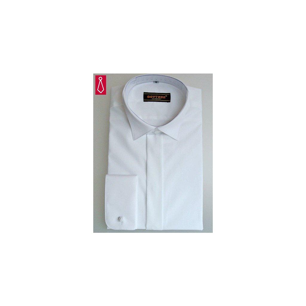 Bílá smokingová košile Beytnur - na manžetové knoflíčky