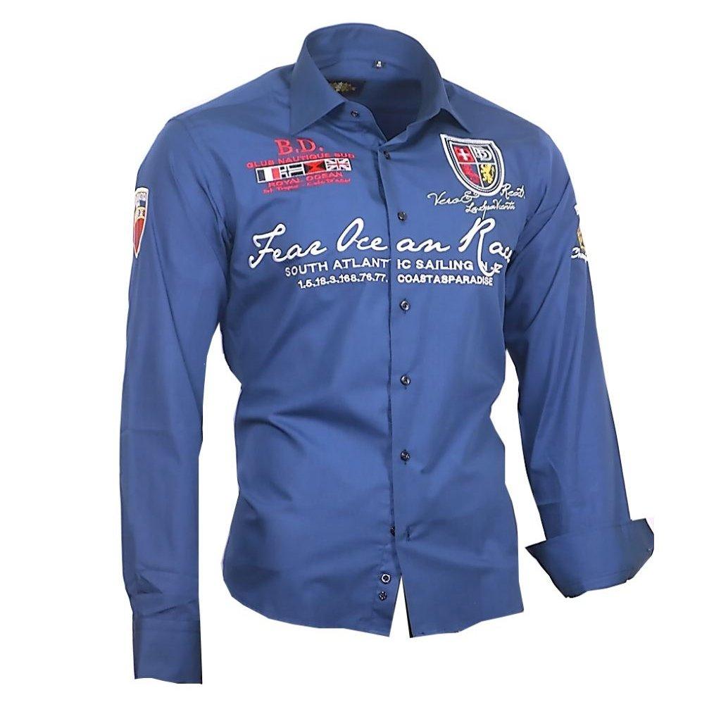 Luxusní pánská košile Binder Ocean - 805-01 modrá-do 1-3 dní-41/42(L)