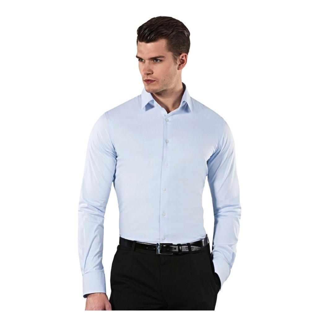 ... Vincenzo Boretti ledově modrá pánská košile 66f8838cb6