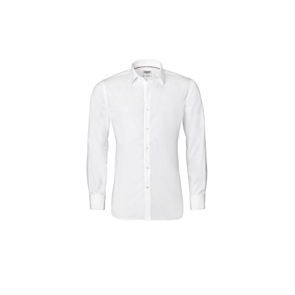 Bílá košile Vincenzo Boretti na manžetové knoflíčky, SF776